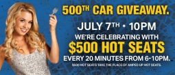 500th Car Giveaway